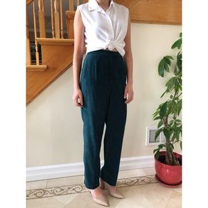 Vintage Forest Green Sueded Pants